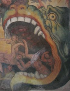 A detail from Rossignolo's Last Judgment, showing