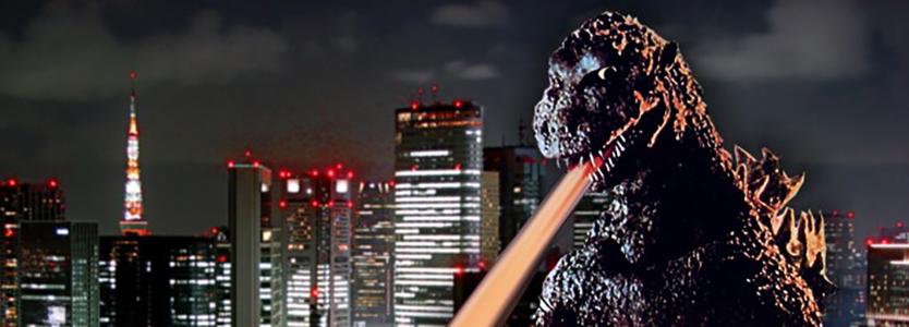 Godzilla in a still from the 1954 film