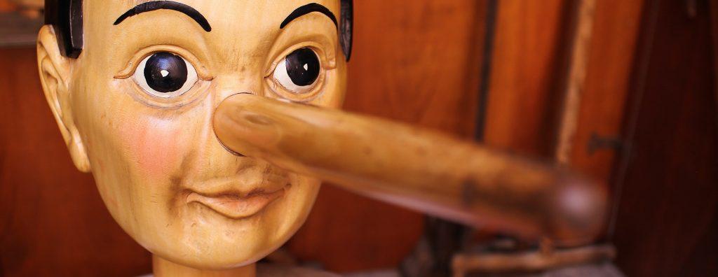 A close if Pinocchio's long nose