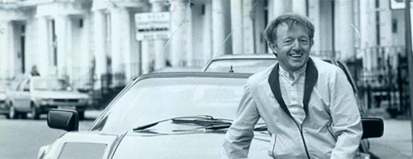 Paul Daniels with a sports car